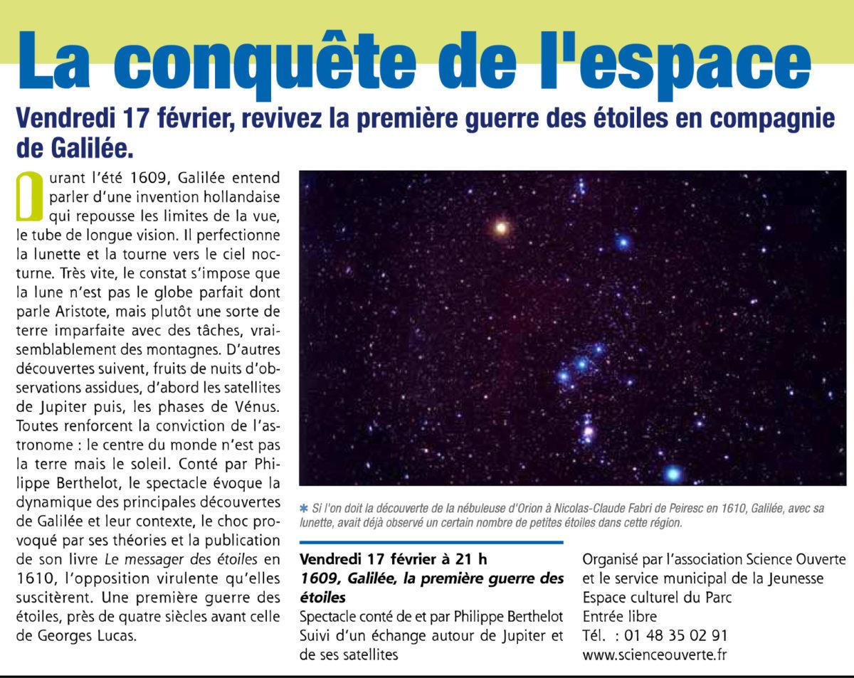 La conquête de l'espace, février 2012