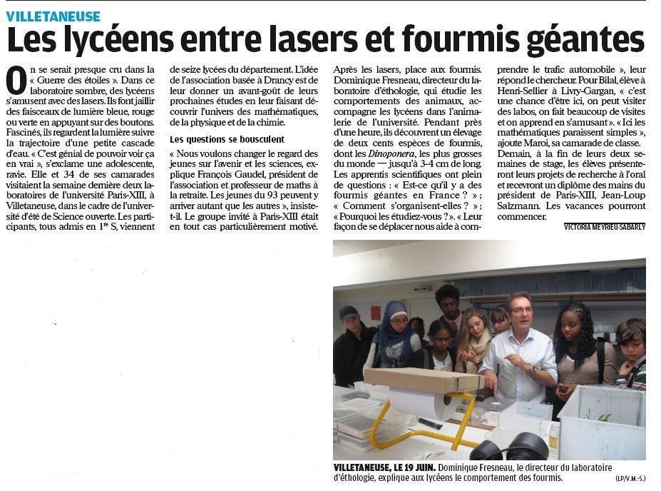 Le Parisien 27/06/2012